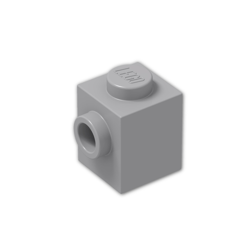 LEGO® White Brick 1 x 1 with Stud on 1 Side Design ID 87087