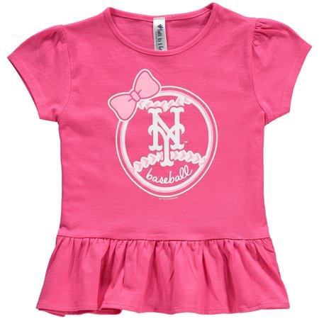 I Met A Girl On Halloween (New York Mets Soft as a Grape Girls Toddler Ruffle T-Shirt -)