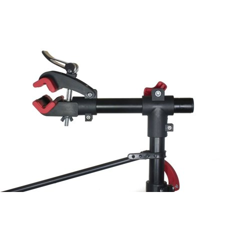 Adjustable Bike Repair Stand with Tool Tray 75 LBS Capacity Quick Release Red - image 2 of 4
