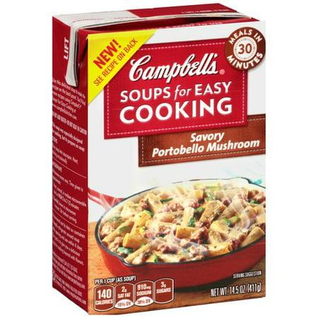 Campbell S Soups For Easy Cooking Savory Portobello Mushroom 14 5oz