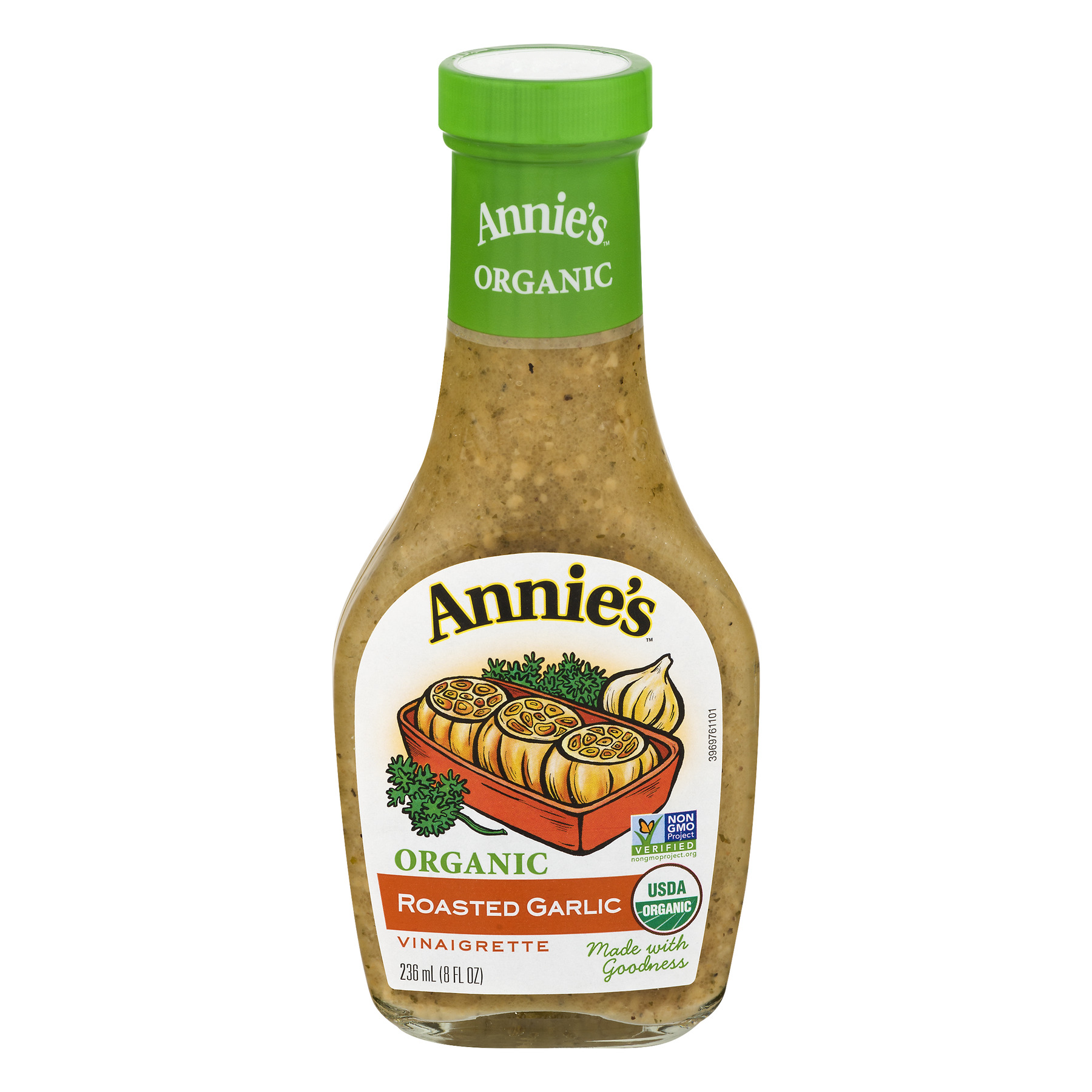 (3 Pack) Annie's Organic Roasted Garlic Vinaigrette Dressing, 8 fl oz