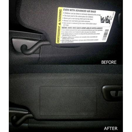 C7 Corvette Stingray/Z06/Grand Sport 2014+ Airbag Warning Cover Overlays - OEM Fabric (Pair)