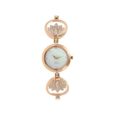 - Titan Women's 2540WM01 Raga - Swarovski Mother of Pearl - Gold Metal Strap Watch
