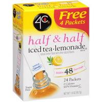 (6 Pack) 4C Totally Light Half, & Half Lemonade Iced Tea Mix, 1.5 Oz, 20 Packets, 1 Count