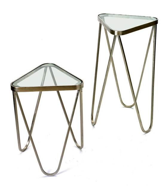 2-Pc Triangular Kingsley Tables Set