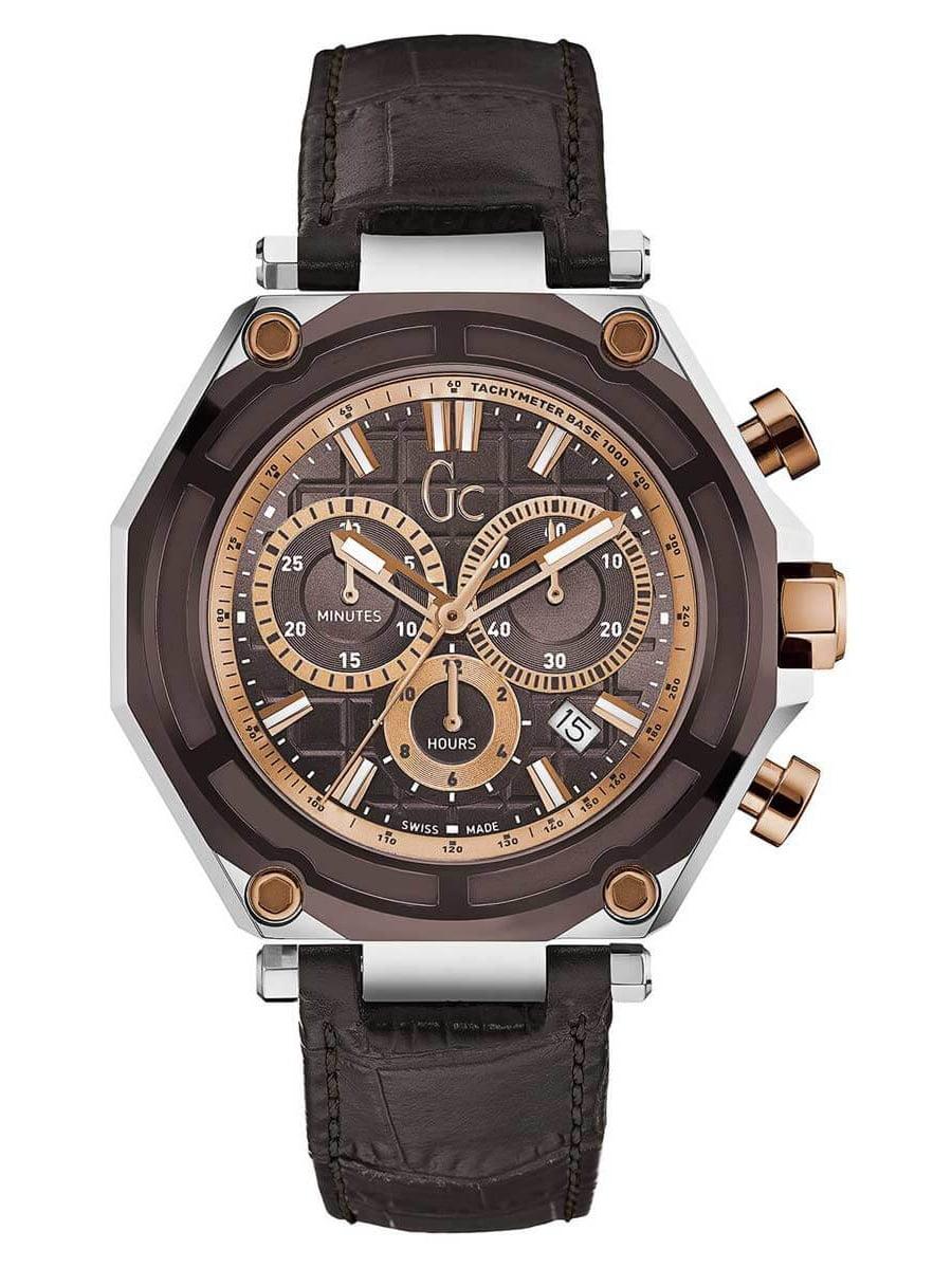 X10003G4S Men's Sport Chic GC-3 Brown Dial Chronograph Watch