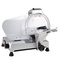 "Yescom 10"" Meat Slicer 240W 530RPM Commercial Electric Slicer Cheese Food Deli Stainless Steel Cutter"