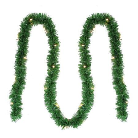 """12' x 2.5"""" Pre-Lit Green Pine Artificial Christmas Garland - Clear Lights (Christmas Garlands)"""