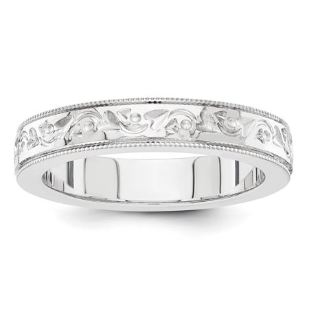 14K White Gold fancy wedding band - image 2 de 2