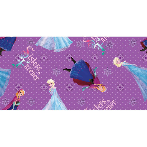 Disney Frozen Sisters Forever Character Toss Fabric By The Yard