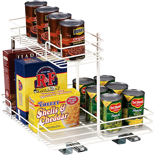 Glidez 4mm White Wire Basket n Half Sliding Premium Kitchen Organizer