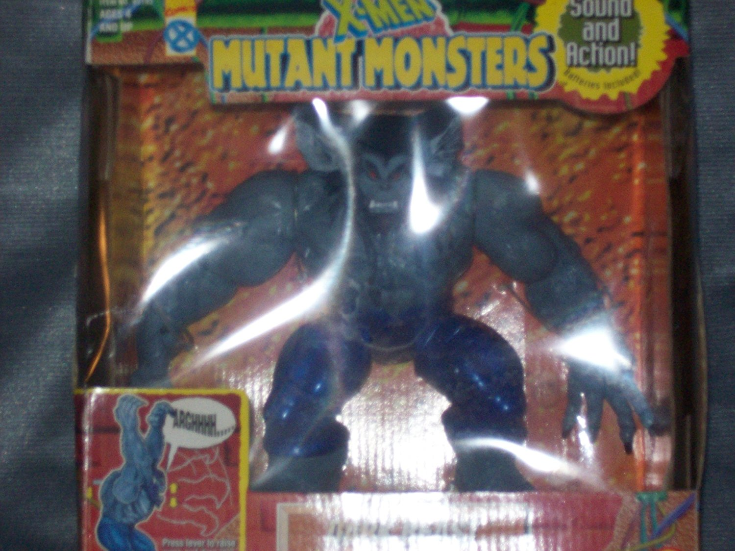 Marvel Comics X-Men Mutant Monsters Dark Beast with Growl and Scratch Action 43193 by Marvel