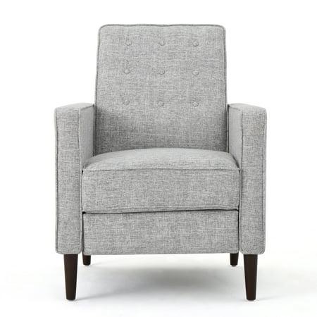 Fantastic Macedonia Mid Century Modern Fabric Recliner Light Grey Tweed Machost Co Dining Chair Design Ideas Machostcouk
