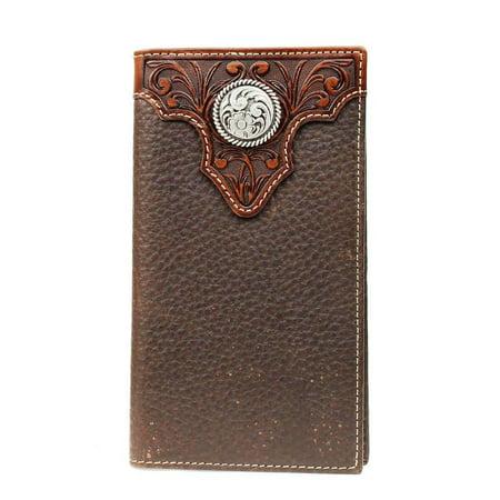 Ariat Western Wallet Mens Premium Rodeo Checkbook Conchos A35102