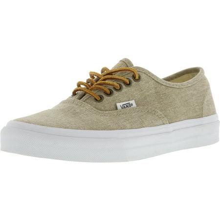 b8fb38ff9a3b68 Vans - Vans Authentic Slim Washed Canvas Cream   True White Ankle-High  Skateboarding Shoe - 7M 5.5M - Walmart.com