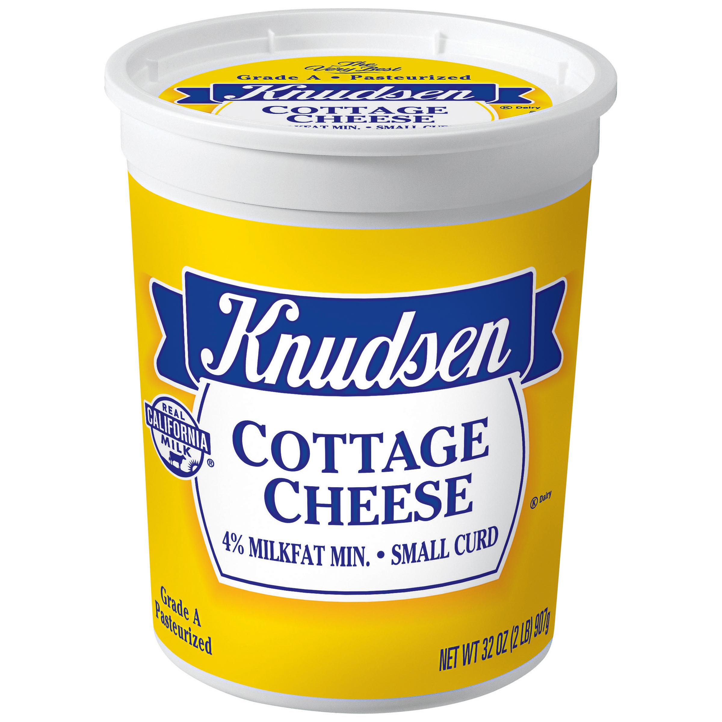 Knudsen Small Curd Cottage Cheese 32 Oz Tub Walmart Com