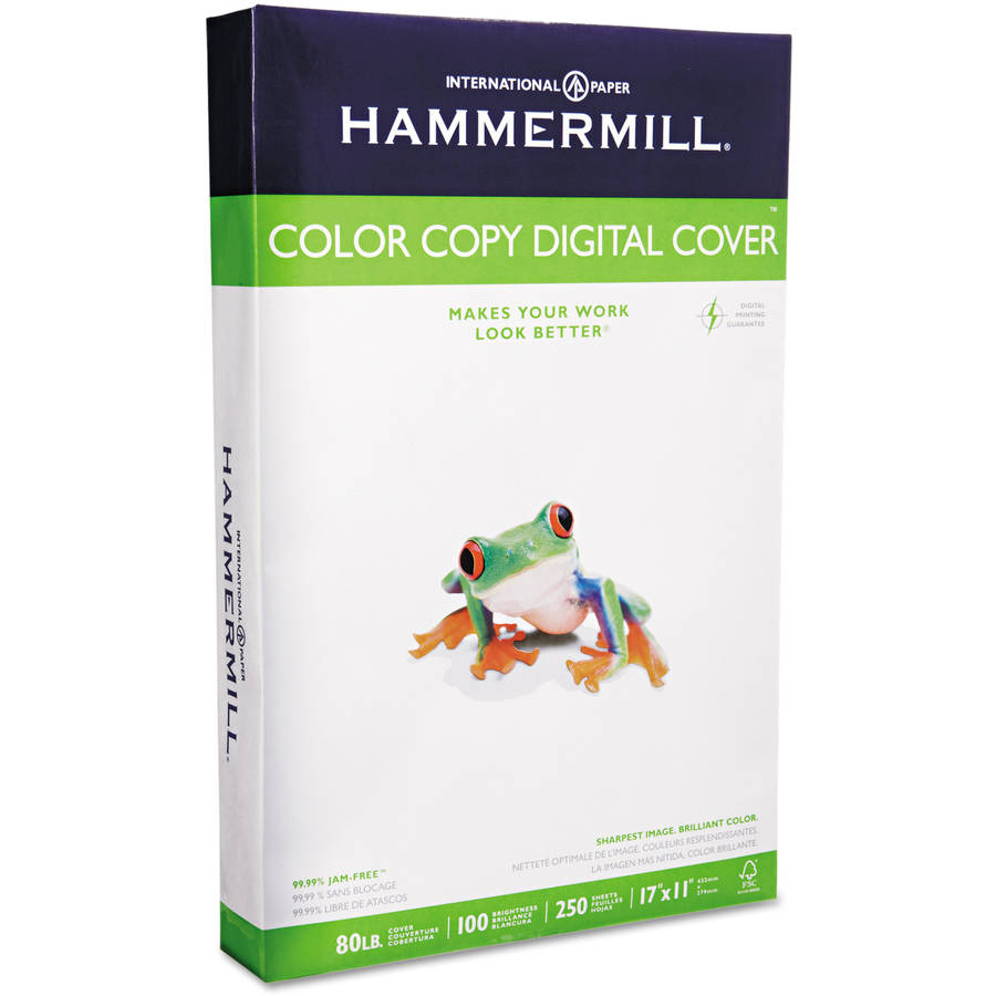 "Hammermill Color Copy Digital Cover Stock, 80 lbs, 11"" x 17"", White, 250 Sheets"