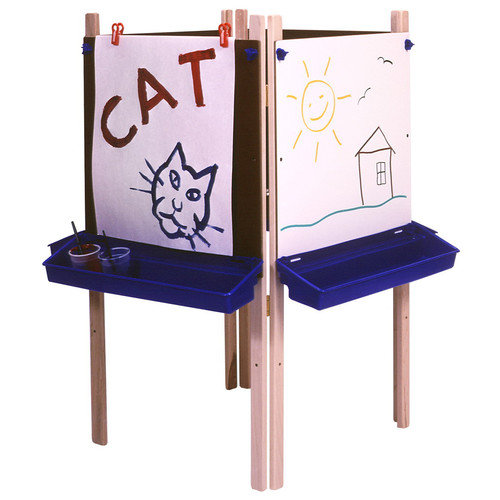 Steffy Wood Products Marker Tray Adjustable Board Easel