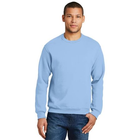 Jerzees 562M Mens Nublend Crewneck Sweatshirt  Light Blue   Large