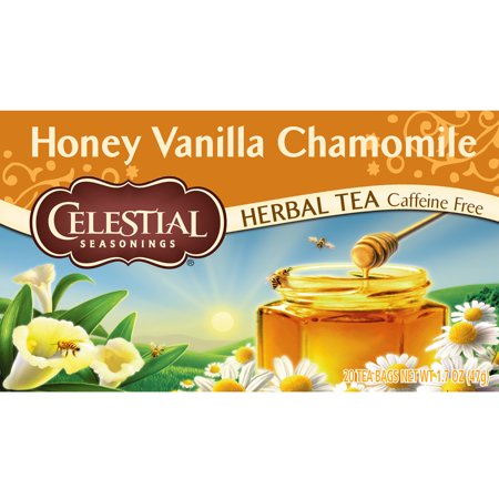 (3 Boxes) Celestial Seasonings Herbal Tea, Honey Vanilla Chamomile, 20 Count