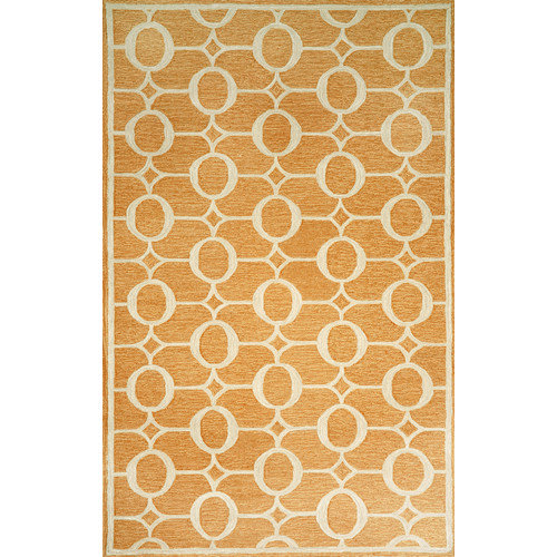 "SPELLO 2117/17 ARABESQUE ORANGE - 24""X36"" Area Rug by Trans-Ocean"