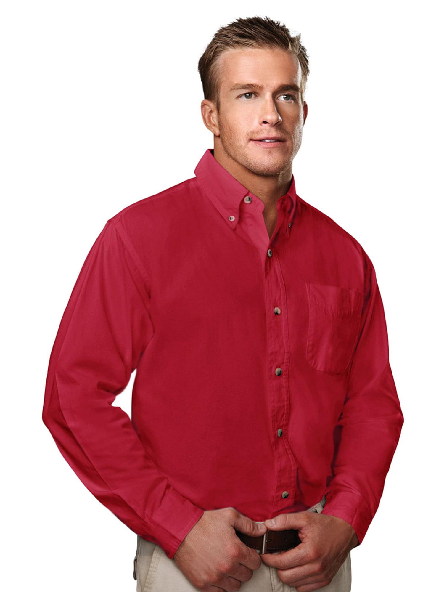 Tri-Mountain Men's Big And Tall Woven Dress Shirt
