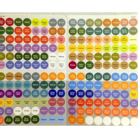 doTERRA Essential Oils Bottle Cap Label Stickers New Edition](Labels For Halloween Potion Bottles)