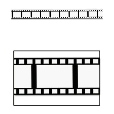 Making Paper Halloween Decorations (Movie Filmstrip Poly Party Tape Halloween Decoration 3