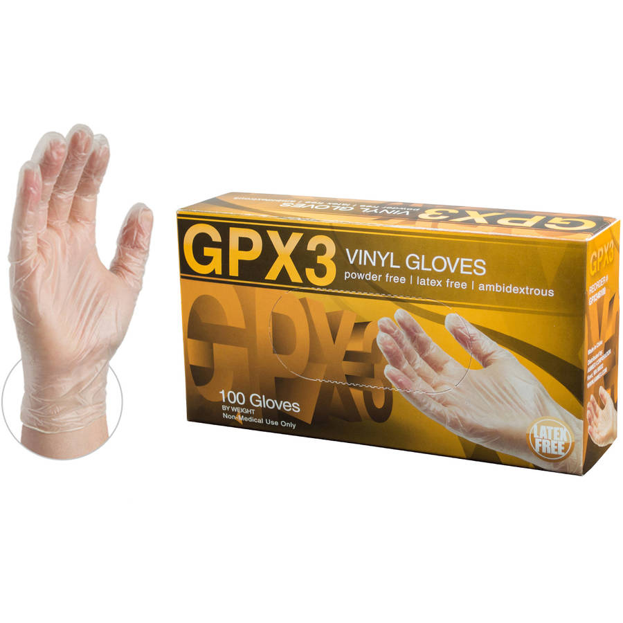 GPX3 Vinyl Powder-Free Disposable Gloves