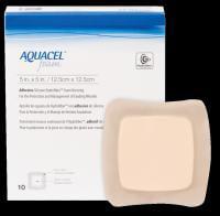 """Aquacel Gelling Adhesive Foam Dressing 5"""" x 5"""" Model #: 51420619 Qty of 10"""