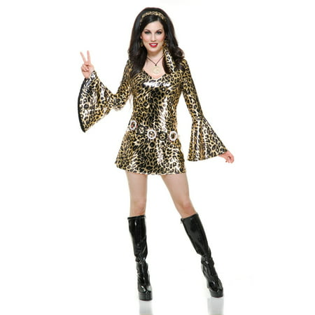 Halloween Gold Leopard Disco Diva Adult - Leopard Cat Halloween Makeup