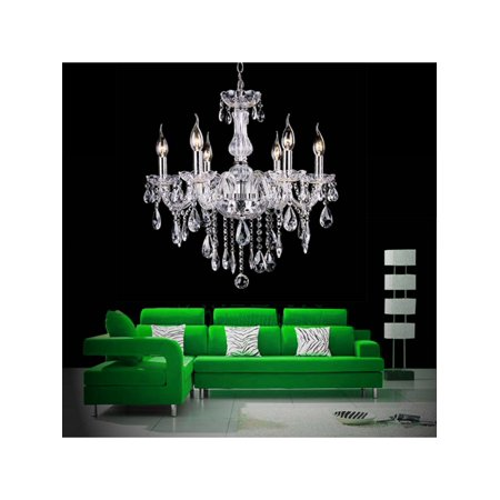 Chandelier 6 Lights Pendant Glass Ceiling - Ceiling Lamps Shop