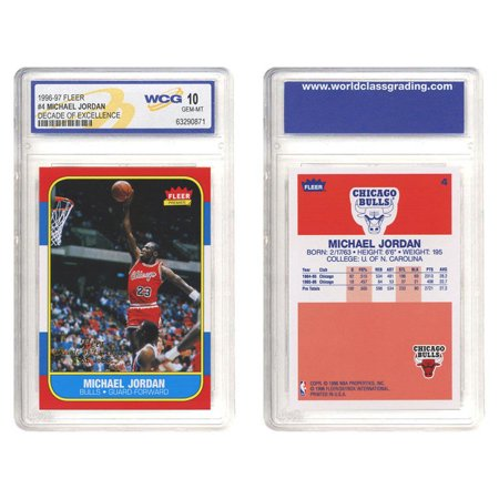 MICHAEL JORDAN 1996-97 Fleer DECADE OF EXCELLENCE Rookie Card Graded GEM MINT 10 ()