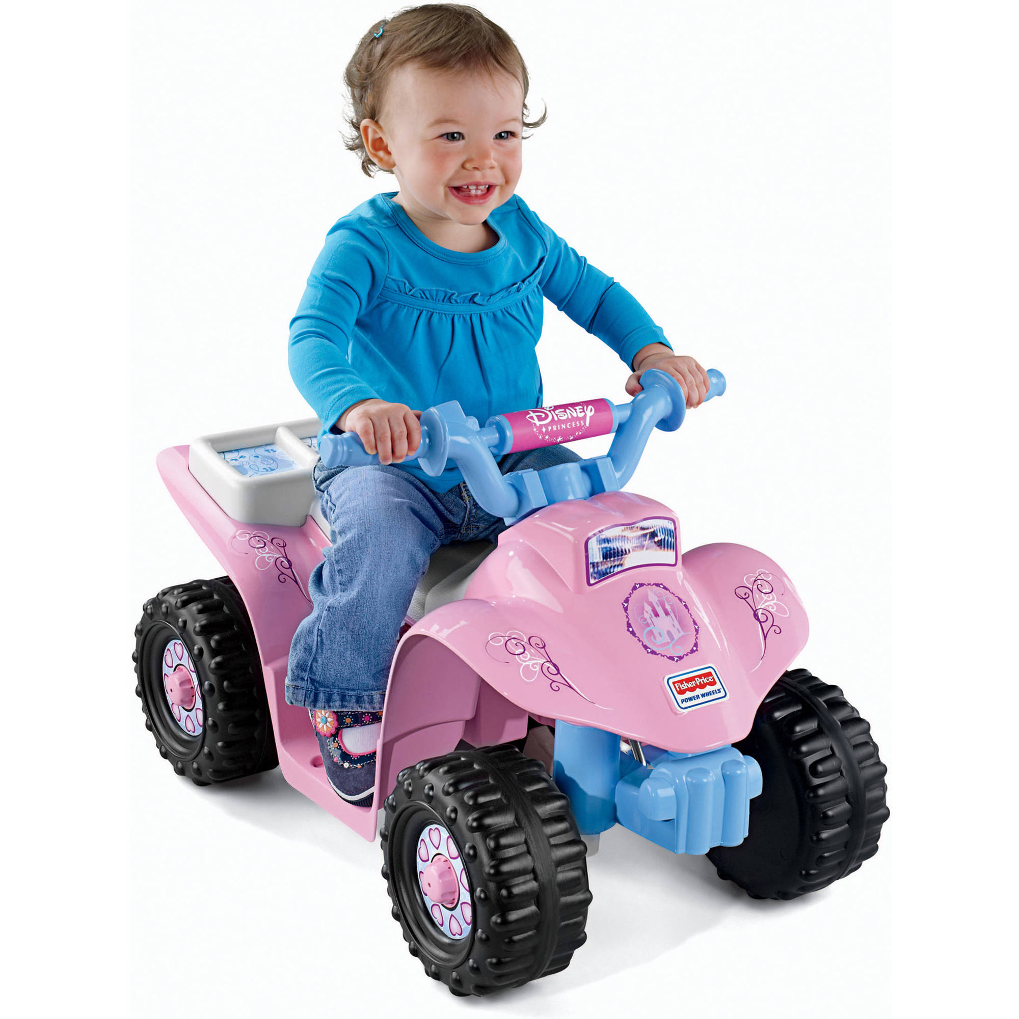 Fisher-Price Power Wheels Disney Princess Lil' Quad 6-Volt Battery-Powered Ride-On