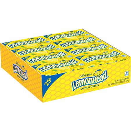 Lemonhead, Lemon Chewy Candy flavor, 0.8oz (Box of 24)