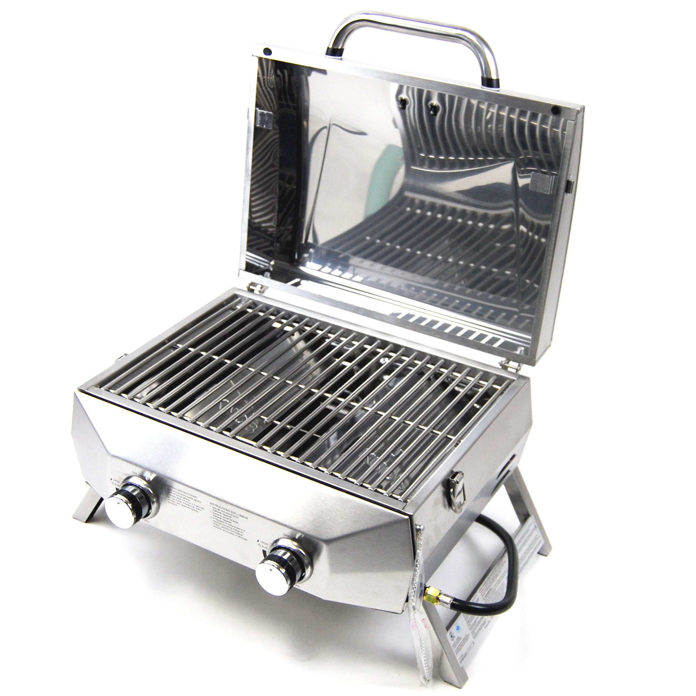 Superspace 20,000 Btu 2 Burner Stainless Steel Bbq Tabletop Propane Gas Grills