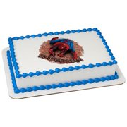 Spiderman Spider Man Homecoming Movie Wall Crawler 75 Round Custom Cake Cupcake Edible Sheet