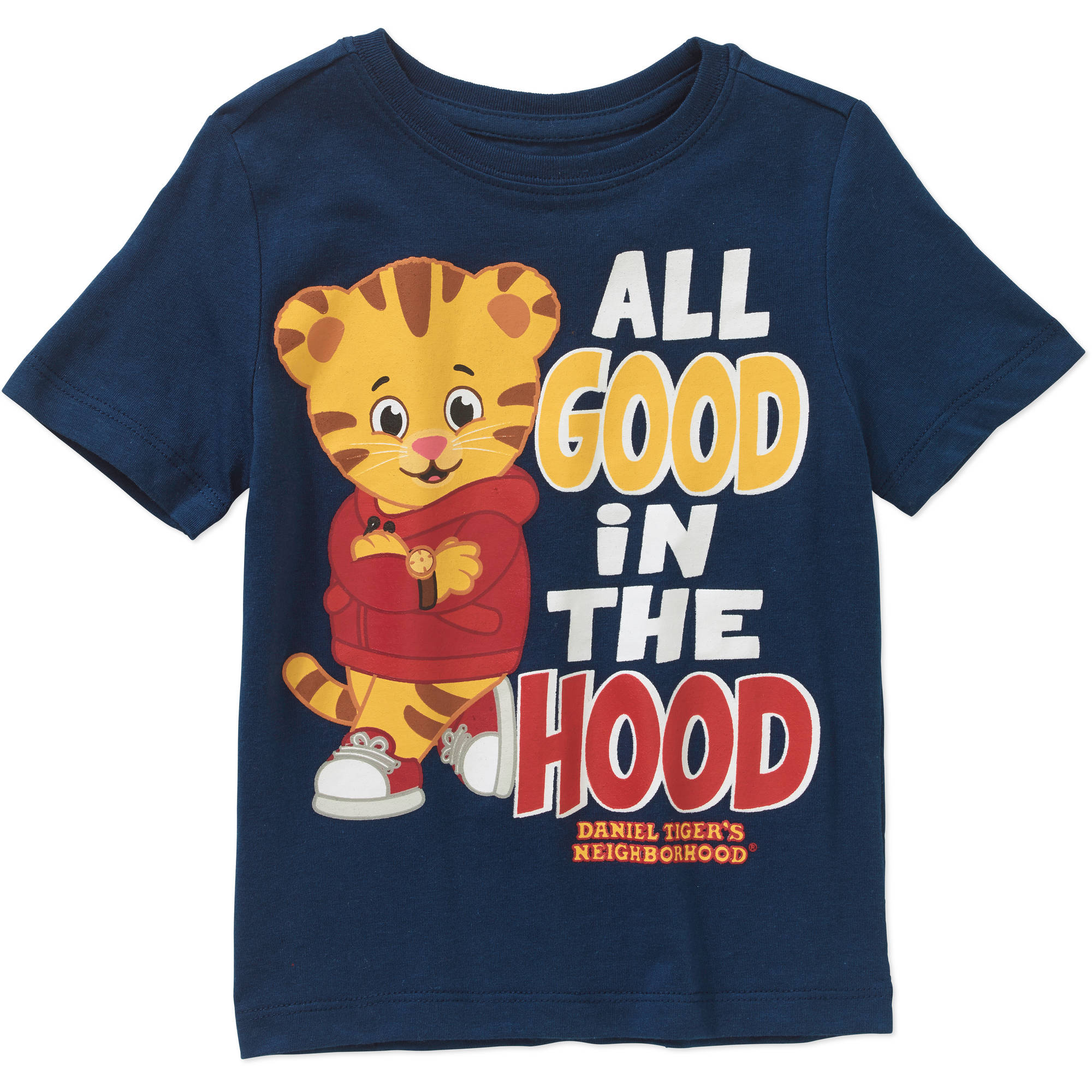 Daniel Tiger Toddler Boys' All Good in the Hood Tee Shirt