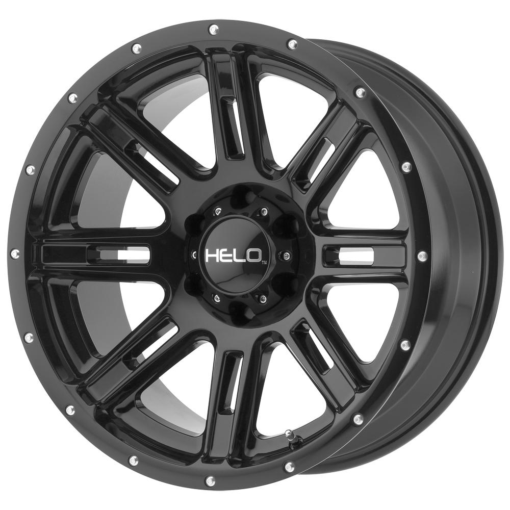 "17"" Inch 17x9 Helo HE900 8x170 -12mm Gloss Black Wheel Rim"