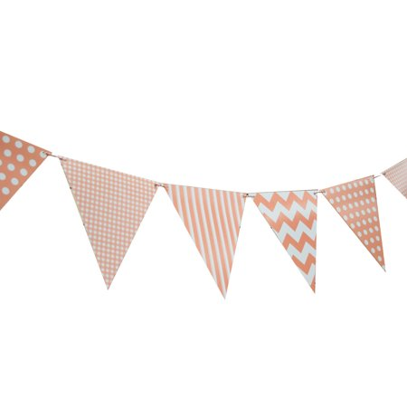 Triangle Flag Case (Quasimoon Roseate / Pink Coral Mix Pattern Triangle Flag Pennant Banner Decoration (11FT) by)