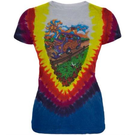 Grateful Dead - Summer Tour Bus Tie Dye Juniors T-Shirt
