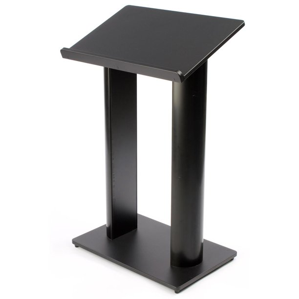 Floor Podium Lectern With Double Column Pulpit Design Mdf With