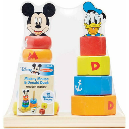 Disney Baby Disney Mickey Mouse and Donald Duck Wooden Stacker