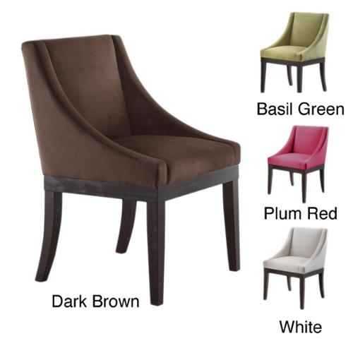 Office Star Products Monarch Velvet Solid Wood Legs Wingback Chair