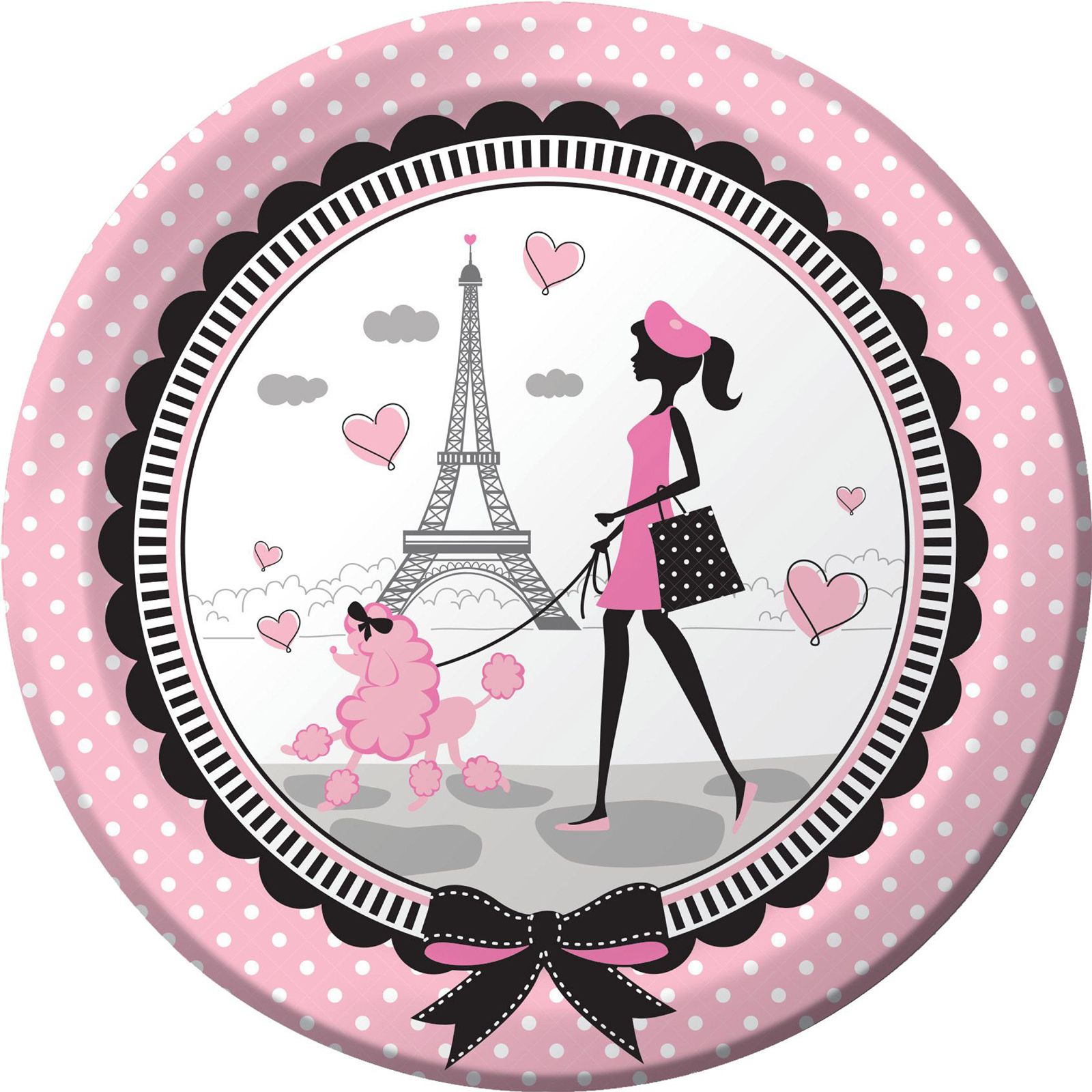 """Paris Party 9"""" Luncheon Plates (8 Count)"""