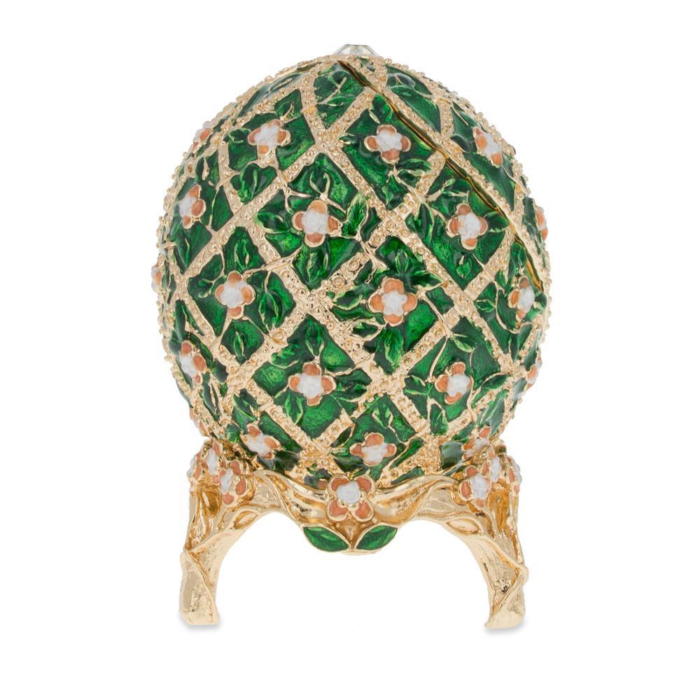 """1907 Rose Trellis Faberge Egg 3.25"""" by BestPysanky"""