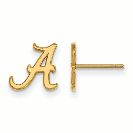Alabama Crimson Tide Women's Gold Plated XS Post Earrings - No Size
