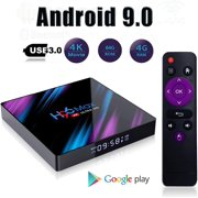 DNYKER H96 Max Smart Android 9.0 TV Box, 64GB 5G WiFi BT4.0 HD Android Media Box,Media Player Display,Screen Remote Control
