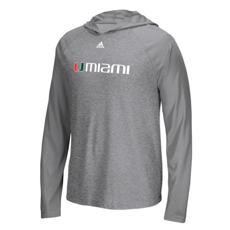 91749b8480 University of Miami Hurricanes Adidas Long Sleeve Hooded T-Shirt ...