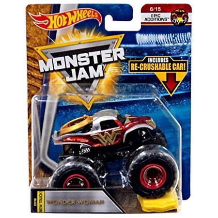 Women Mobster (Hot Wheels Monster Jam Epic Additions - Wonder Woman with Re-Crushable)